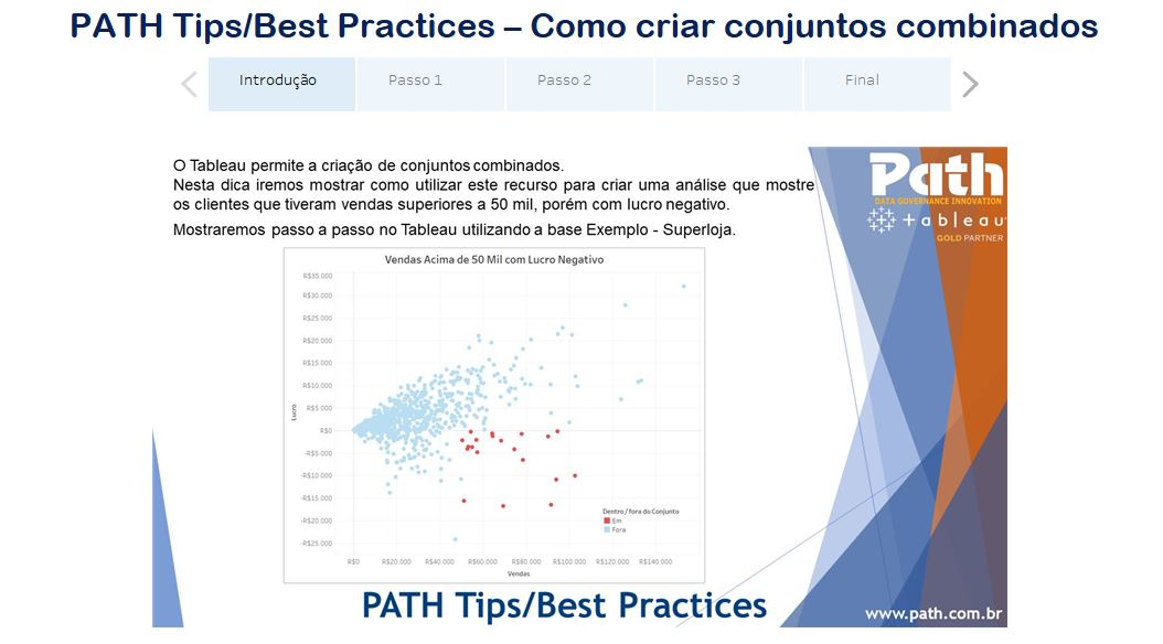 PATH Tips/Best Practices – Como criar conjuntos combinados