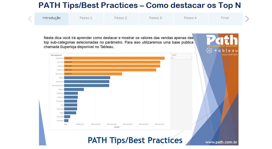 PATH Tips/Best Practices – Como destacar os Top N