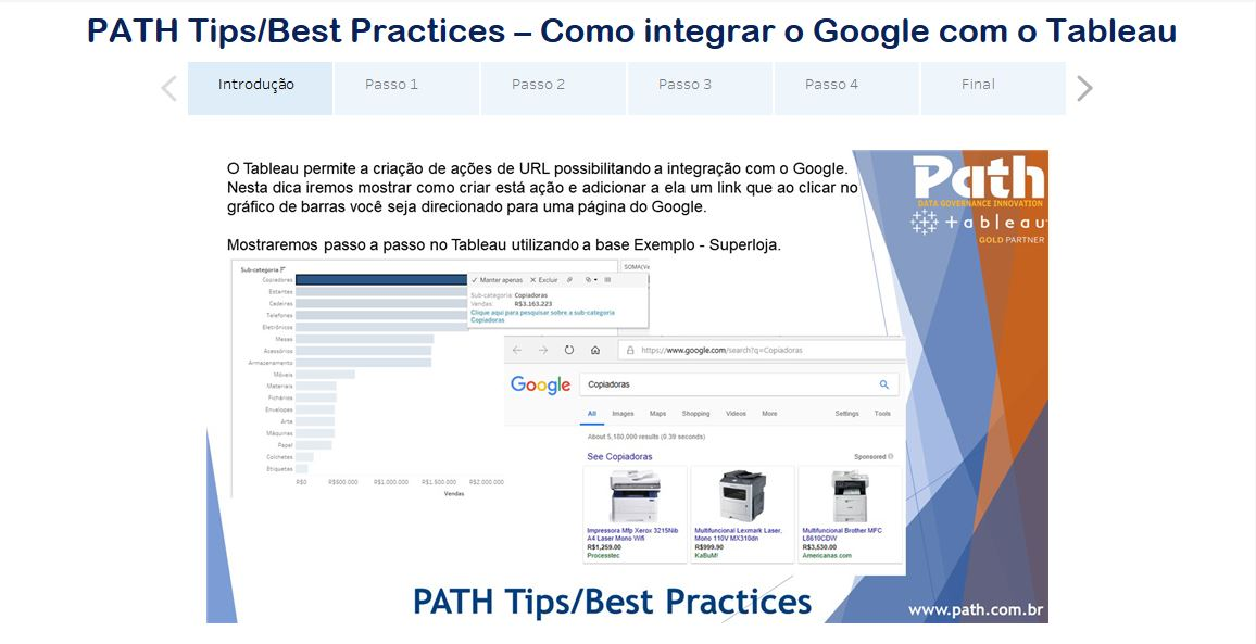 PATH Tips/Best Practices – Como integrar o Google com o Tableau