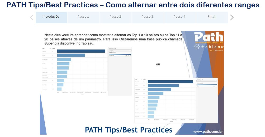 PATH Tips/Best Practices – Como alternar entre dois diferentes ranges