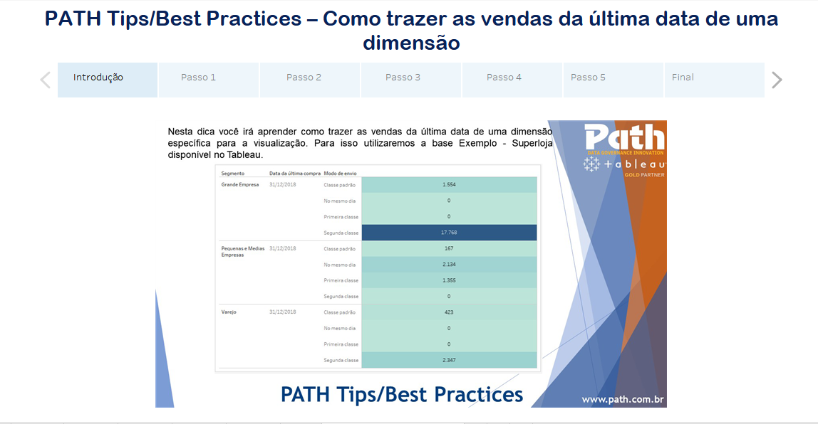 PATH Tips/Best Practices – Como trazer as vendas da última data de uma dimensão