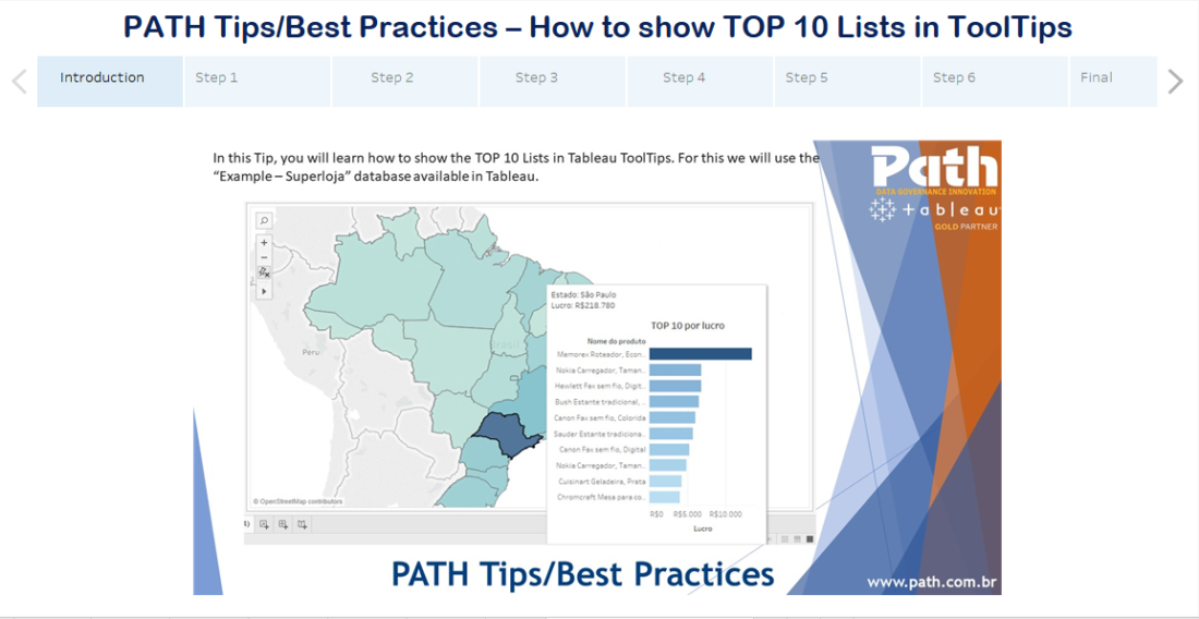 PATH Tips/Best Practices – How to show TOP 10 Lists in ToolTips