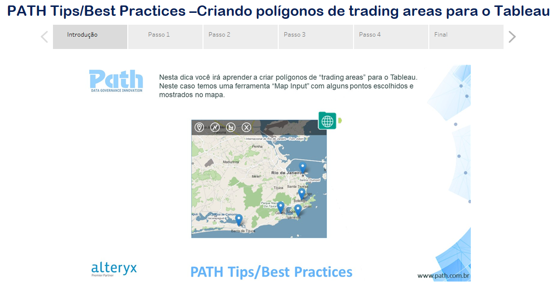 PATH Tips/Best Practices –Criando polígonos de trading areas para o Tableau
