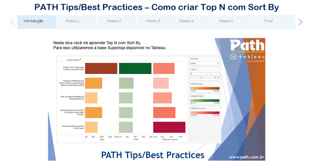 PATH Tips/Best Practices – Como criar Top N com Sort By