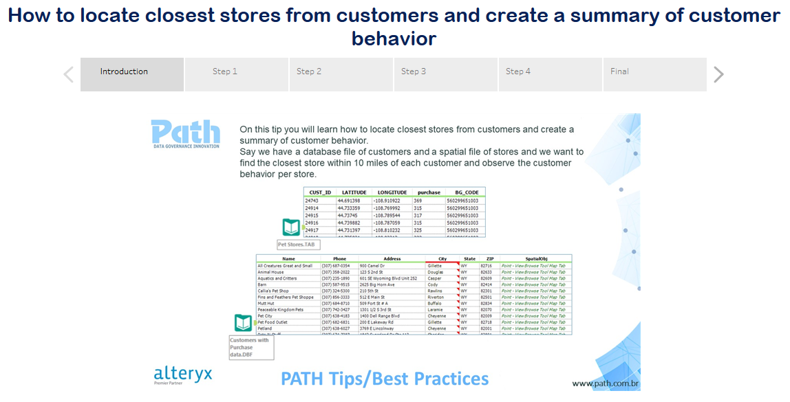 How to locate closest stores from customers and create a summary of customer behavior