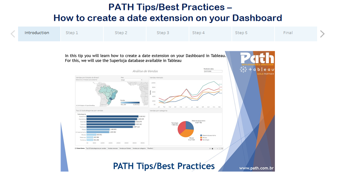 PATH Tips/Best Practices – How to create a date extension on your Dashboard